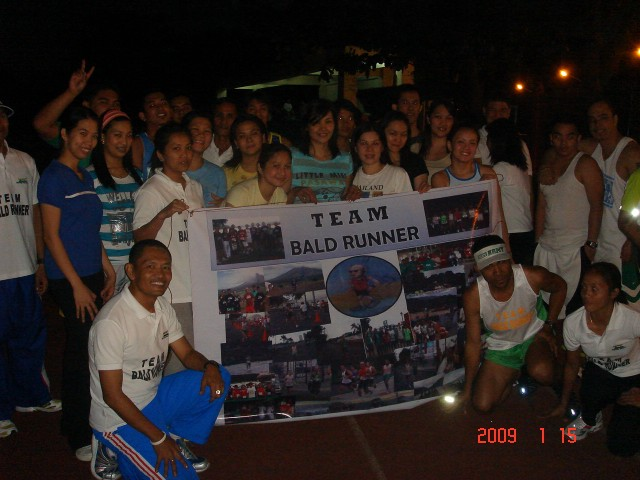 Clinic Ended With A Group Picture With Team Bald Runner