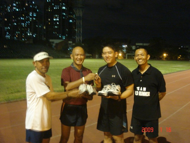 Charlie Donating Shoes at the ULTRA Oval Track