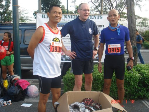 A Balkbayan Box With Running Shoes From Nottingham & Nottinhamshire, UK