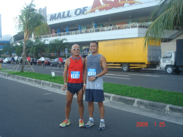 "A Picture After The Race. Finally, This Race Made My Son As An ""International Runner"""
