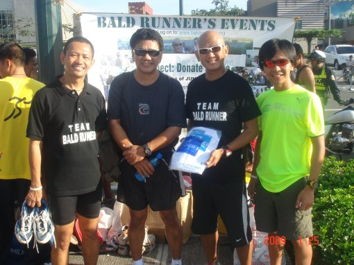 Rene aka JazzRunner Donating A Shirt To BR