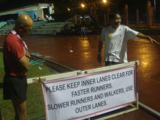 Coach Salazar Will Be Responsible In Displaying This Signage