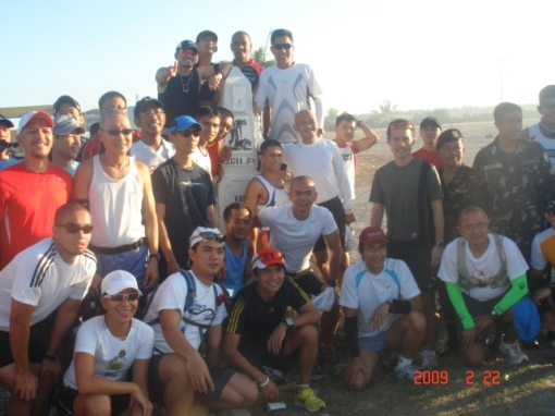 Group Picture With Bataan Death March Km Post # 50