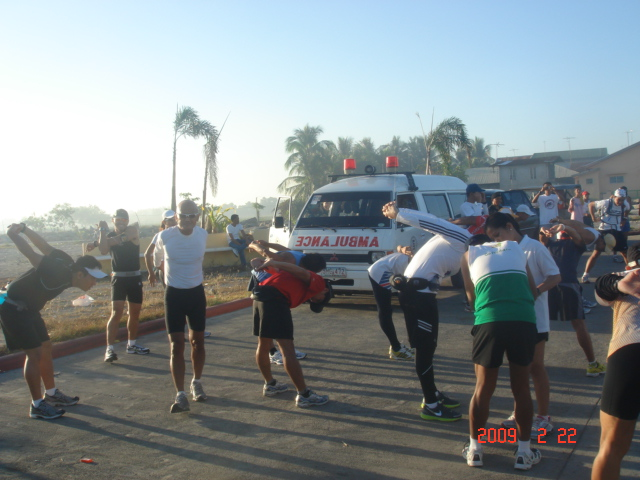 Stretching Exercises Led by Coach Salazar