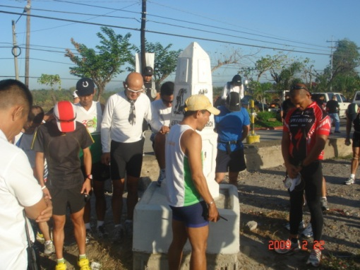 Coach Salazar Leading The Prayer Before The Run