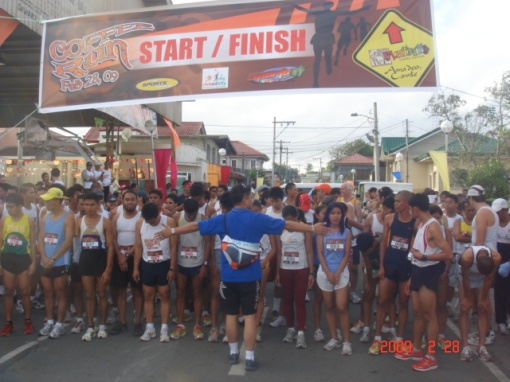 All The Runners Waited For the Race To Start