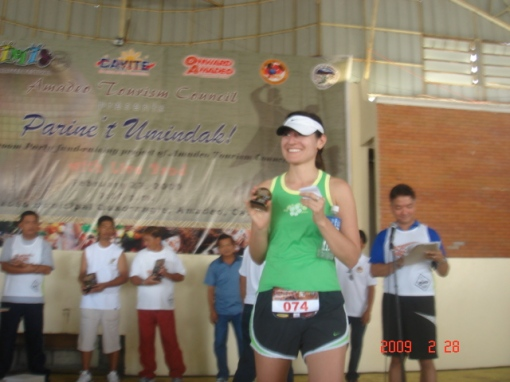 Toni Receiving Her Award as 5th Place Women's Category