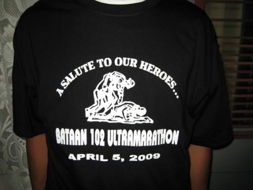 Finisher's T-Shirt For the Bataan 102 Warriors