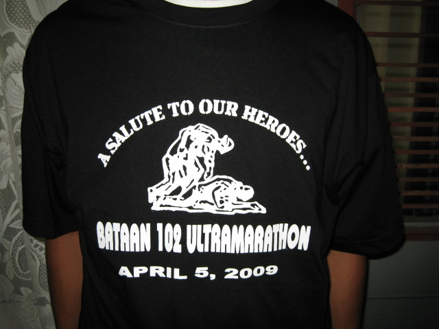 Finisher's T-Shirt For the Bataan 102 Warriors