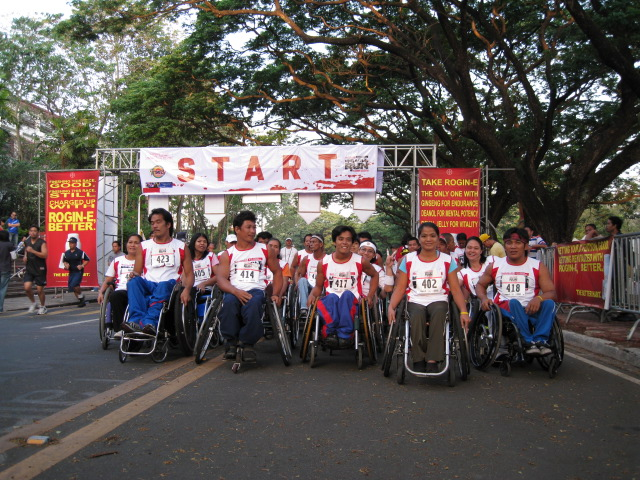 The Participants of the WheelChair Race Division