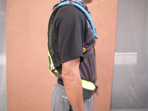 TNF E Race BOA Hydration Pack Snugged to the Back