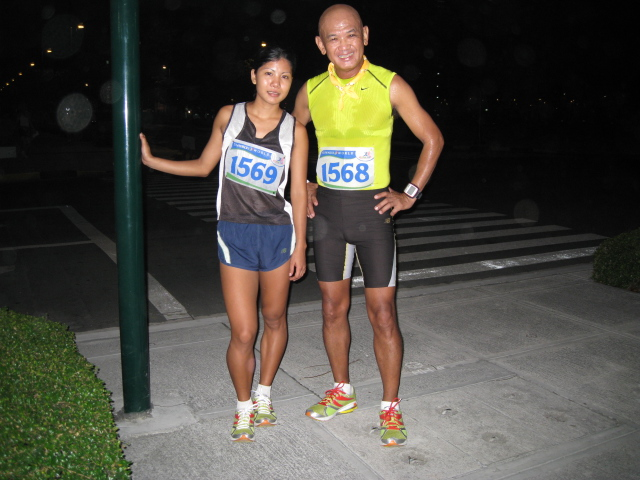 Marecil Maquilan of my Elite Team After Our Warm-Up Run