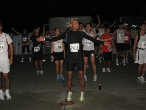 Group Calisthenics Before The Race/ I was in Black!