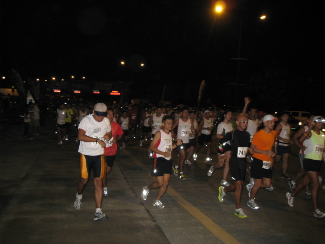 The Race Started At 5:00 AM For The 21K Runners