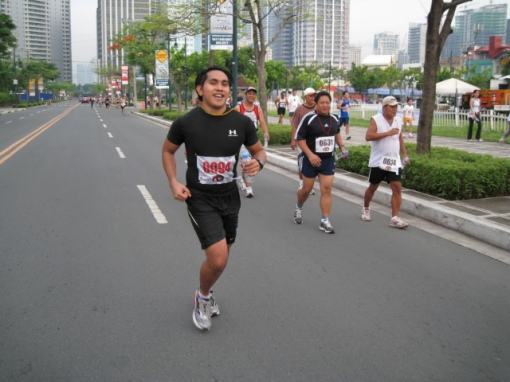 My Nephew Lemuel Finishing the 10K Run