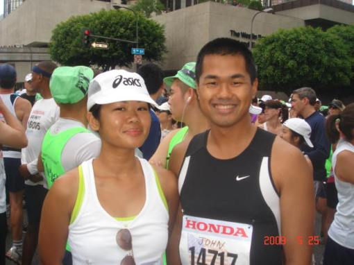 Jovelle's 4th Marathon & Jonh Paul's 7th Marathon