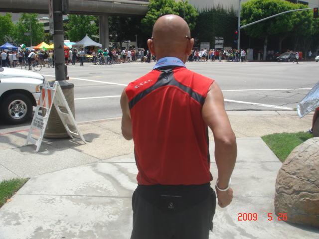 My Back & My TNF Muscle Shirt (Dean K & I Were Using The Same Shirt!)