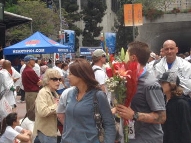 Yes, They Offer Flowers As Gift To 1st Time Marathon Finishers