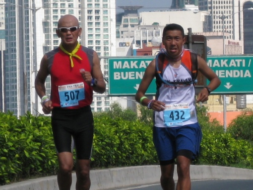 At the Kalayaan Flyover, 3 Kms from the Finish Line
