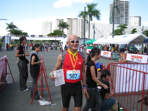 My Prize---A Finisher's Medal, Certificate & A Smile