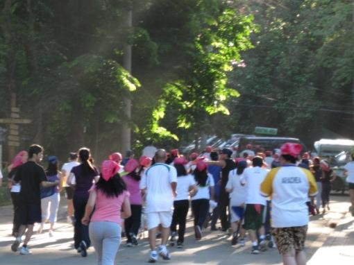 Start of the 2-Km Fun Run