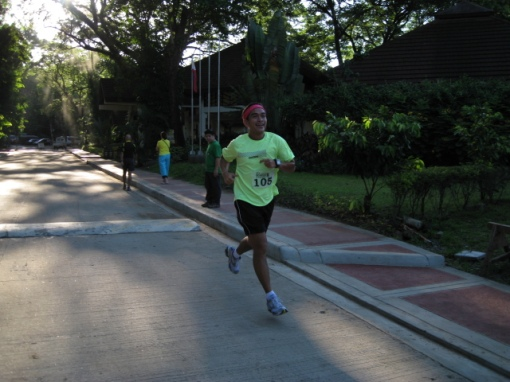 "Melvin Pangan, Winner of the 2-Km Run. He is a ""Weekend Warrior"" In Road Races"