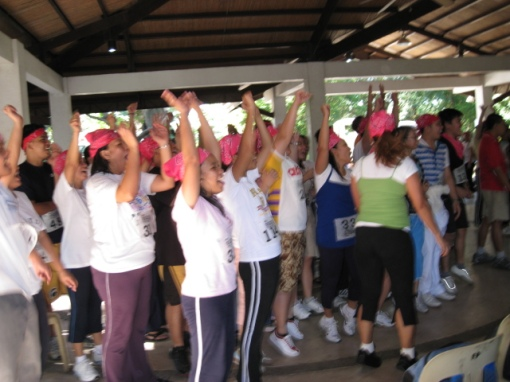 Cheering Competition Among The Participants