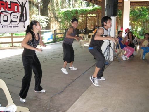 Dance Instructors/Instructress Leading the Participants