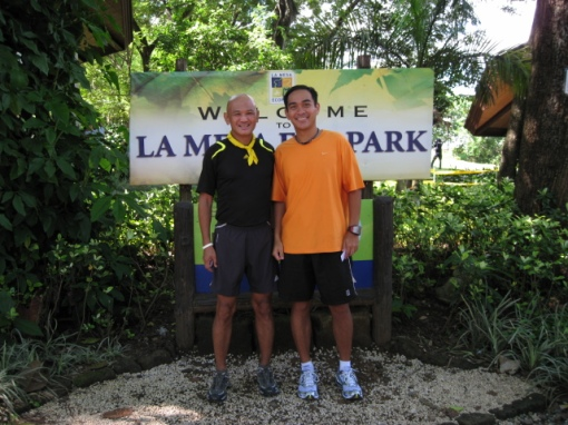 With Melvin Pangan, the Winner of the 2-Km Run