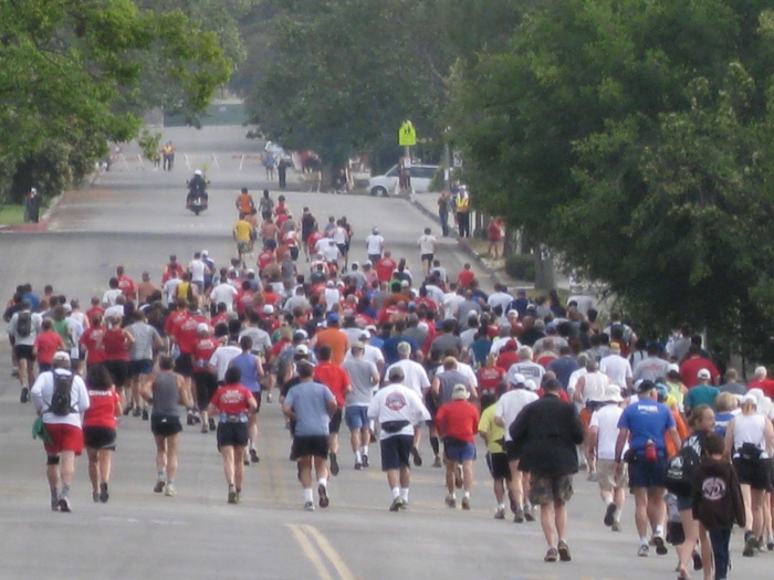 A View of the 1st 1/2 Mile of the Race Before Going To The Trail