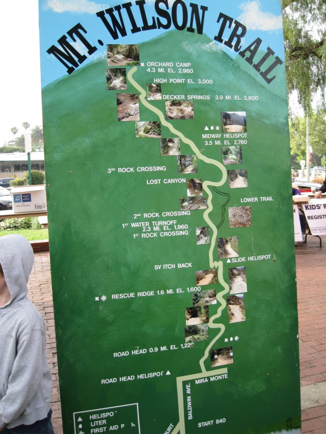 Mt Wilson Trail Route