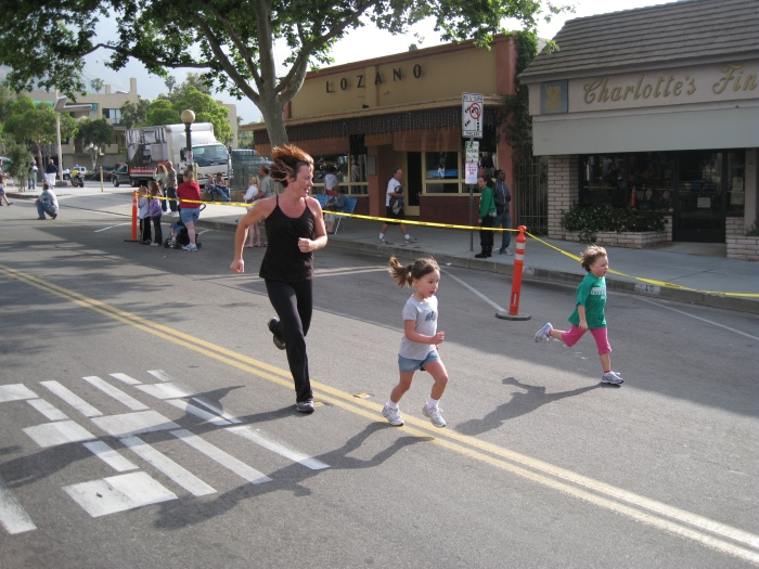 The Kids Approaching the Finish Line