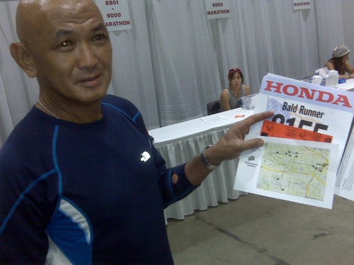 Customized Race Bib For Bald Runner