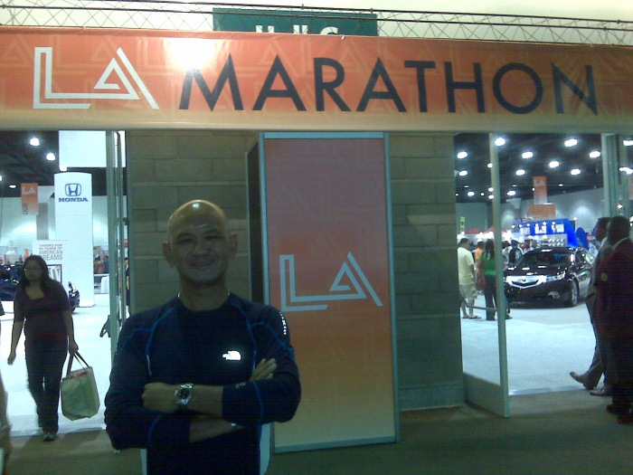 Outside the LA Marathon Expo