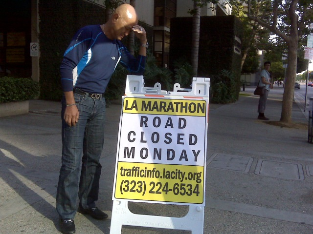 """Runners Are """"Kings of the Roads"""" During Race Day"""