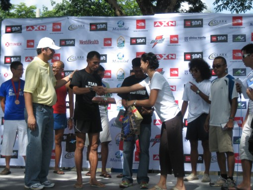 Cris Sabal & Rey De Los Reyes Receiving Their Awards & Prizes (On the right is Coach Rio as the RO/RD & Jundel of TNF)