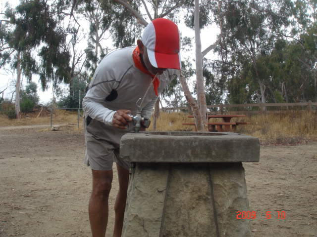 A Drinking Fountain On The Mountain Park