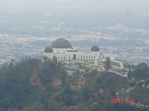 A View of the Back of the Griffith Park Observatory
