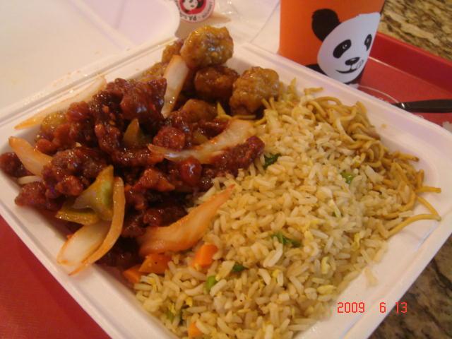 Lunch @ Panda Express After Pilates Class (Beijing & Orange Chicken)
