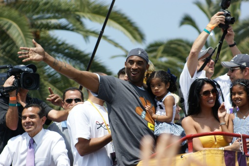 Kobe Bryant @ 2009 LA Lakers Victory Parade (Photo Courtesy of Ben Gaetos)