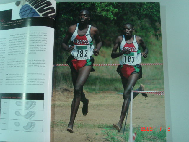 Picture of Kenyan Runners From the Book On Marathon By Bruce Fordyce