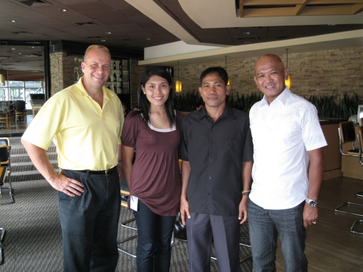 Jim Lafferty, Nina Gallego, Coach Titus Salazar, & BR