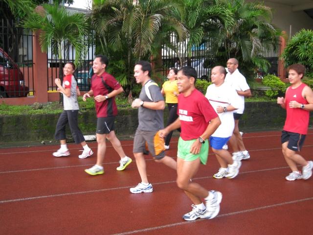 Warm-Up Run Around The Oval Track