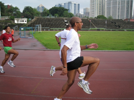 "Nigel From Trinidad-Tobago Doing The ""High-Knee"" Drills"