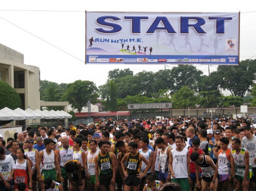 At The Starting Line With The 5K Runners