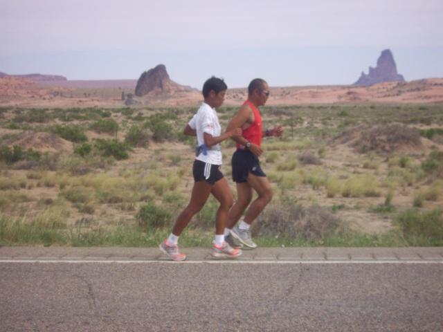 Joy & Mat Running Together