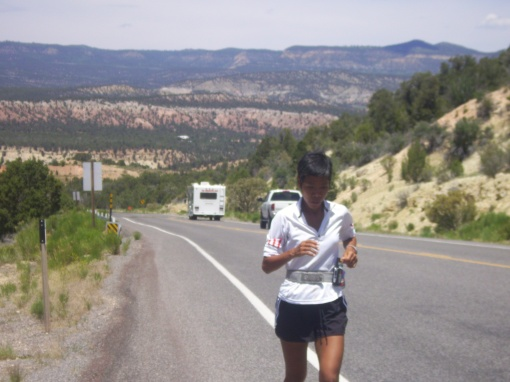 Running Along The Mountains of Kanab, Utah