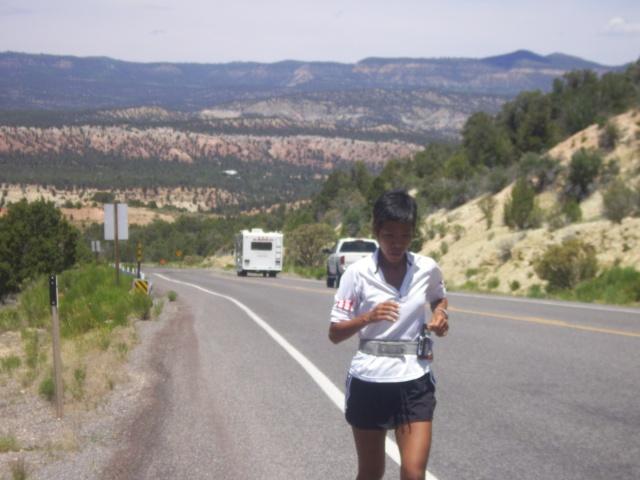 Running Along The Mountains of Kanab, Utah