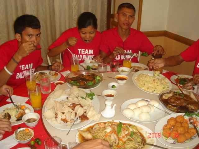 Elite Team BR's Carboloading Lunch