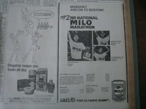 MILO Run Finisher's Ads